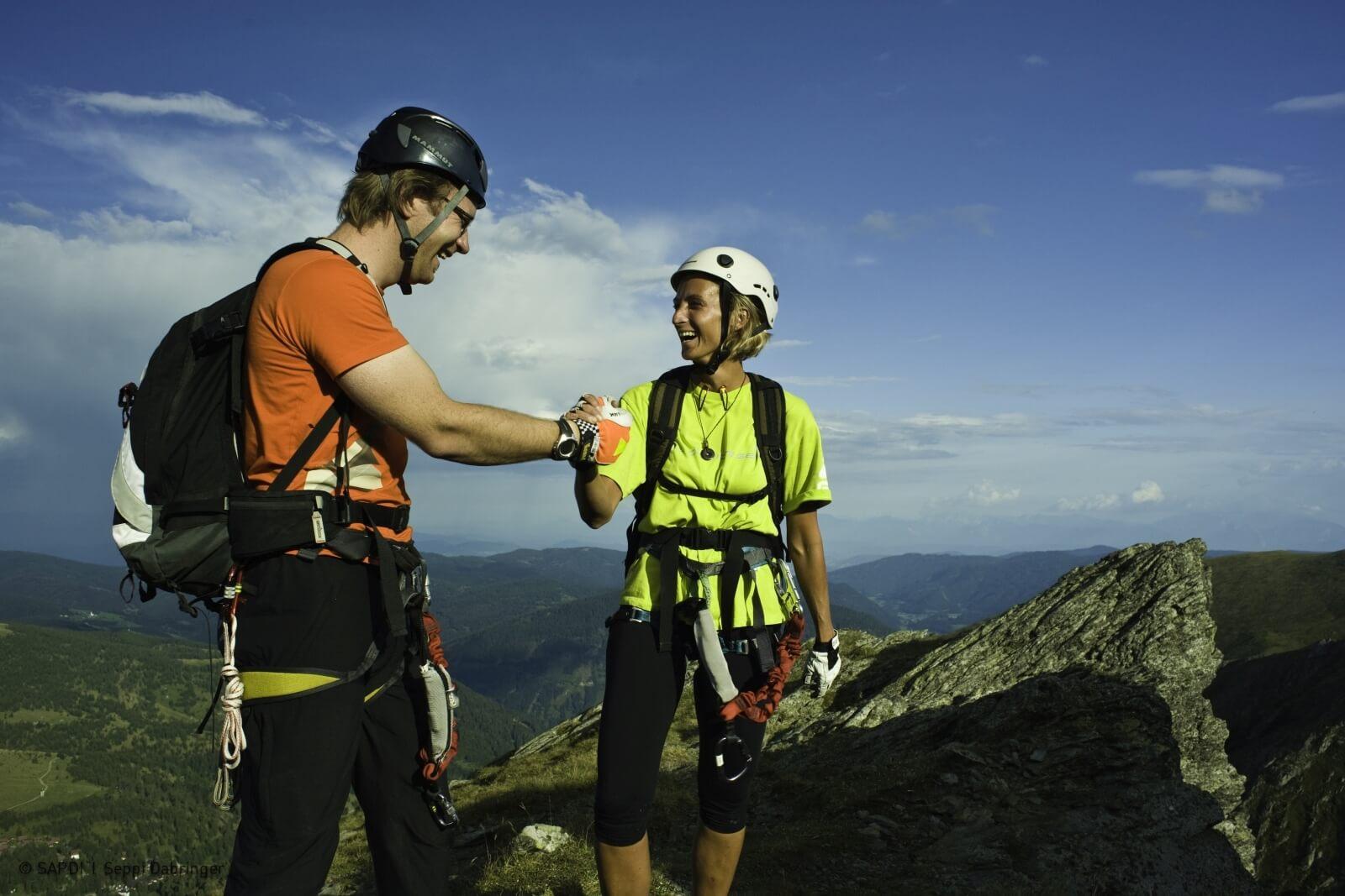 Heidi-Chalet-Falkert-Heidialm-Falkertsee-Kinderklettersteig-Falkertsteig-Gipfel