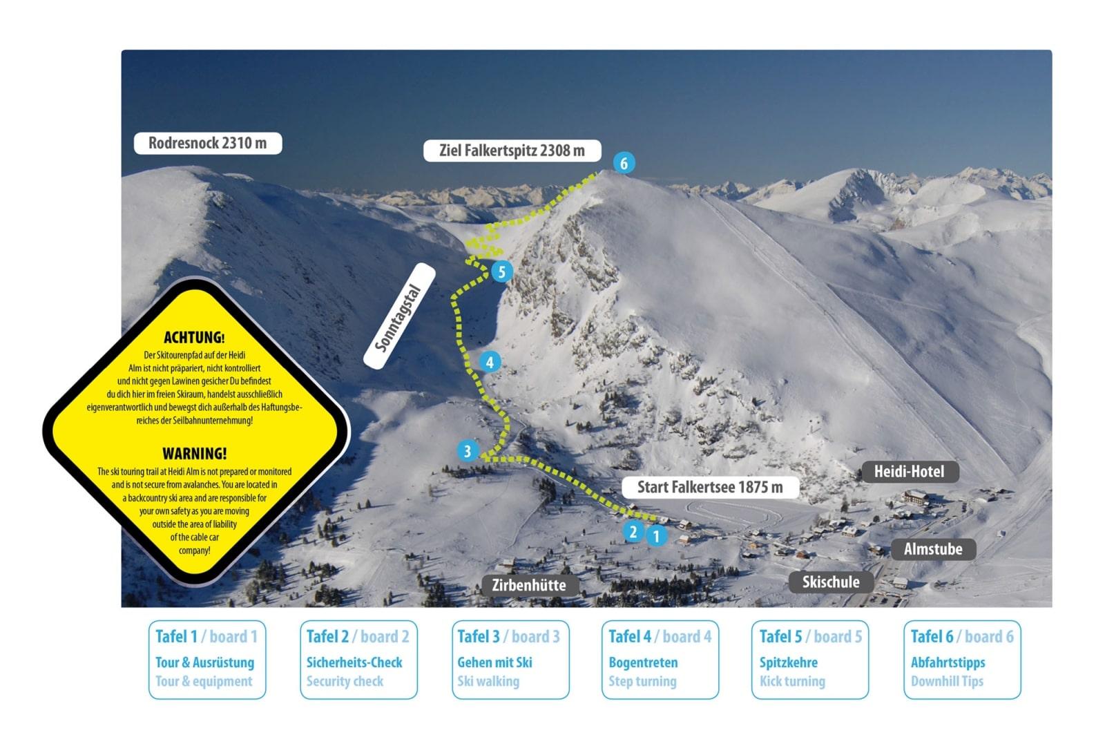 Heidi-Chalet-Falkert-Heidialm-Falkertsee-Skitourenlehrpfad