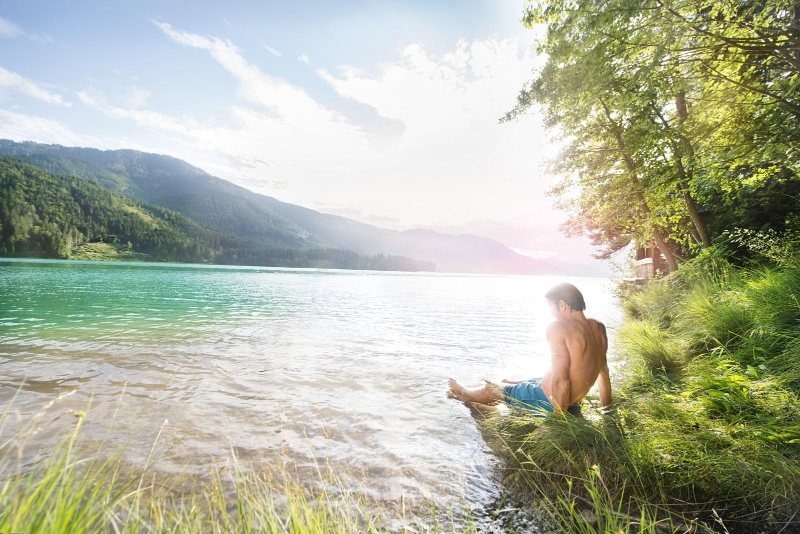 Heidi-Chalet-Falkert-Heidialm-Natur-See-Baden-Relaxen-Ufer