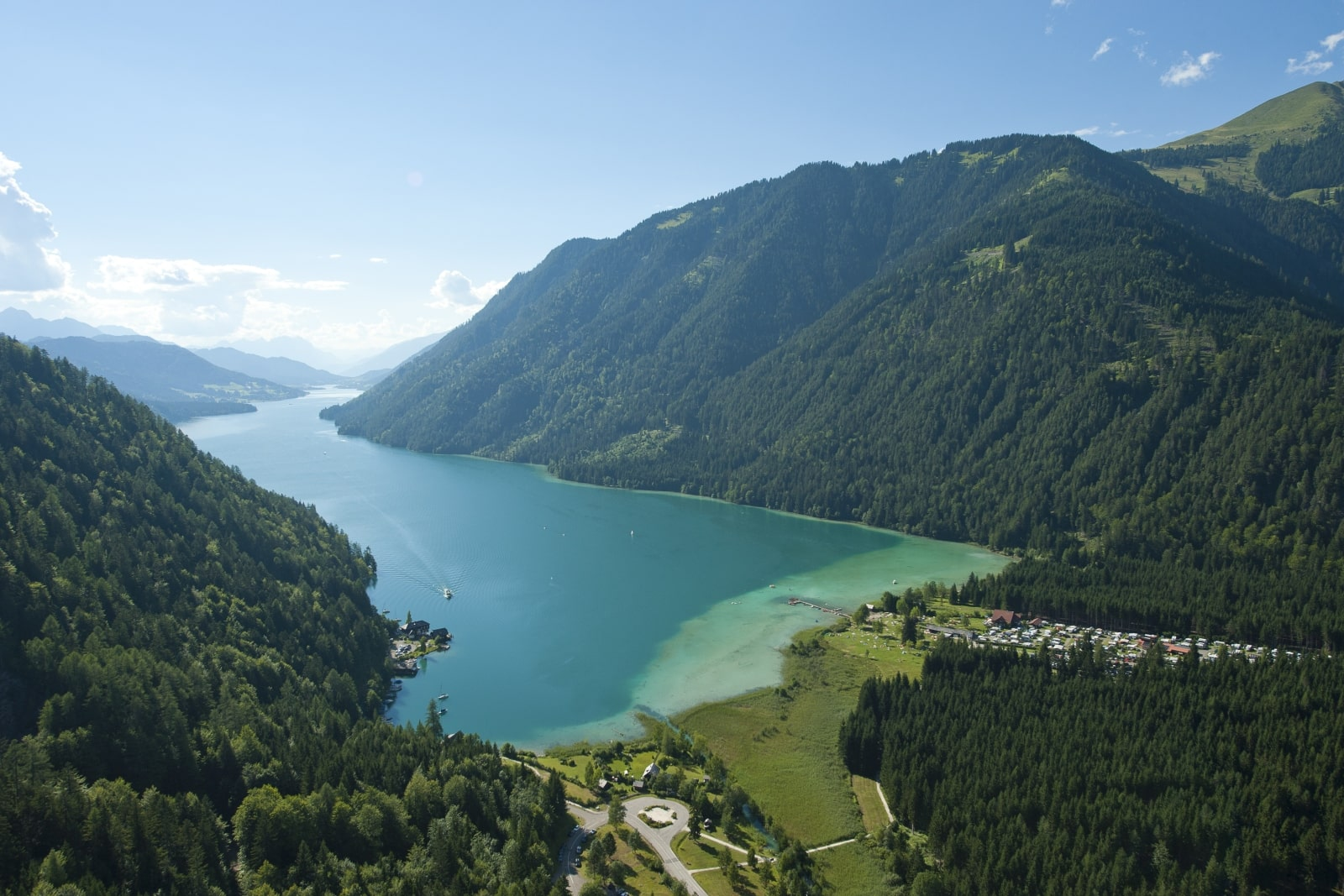 Heidi-Chalet-Falkert-Heidialm-Natur-See-Baden-saubere-Bergseen-Weissensee