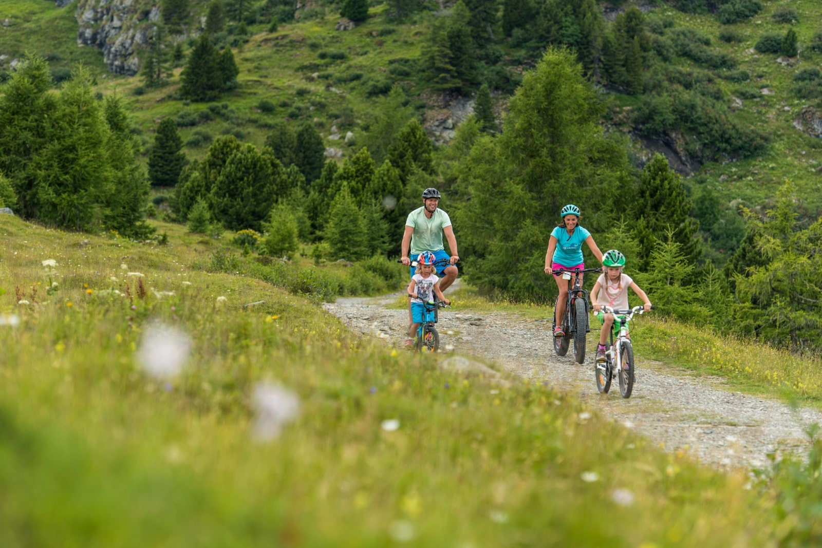Heidi-Chalet-Falkert-Heidialm-Natur-See-Biken-Fahrrad-Kinder