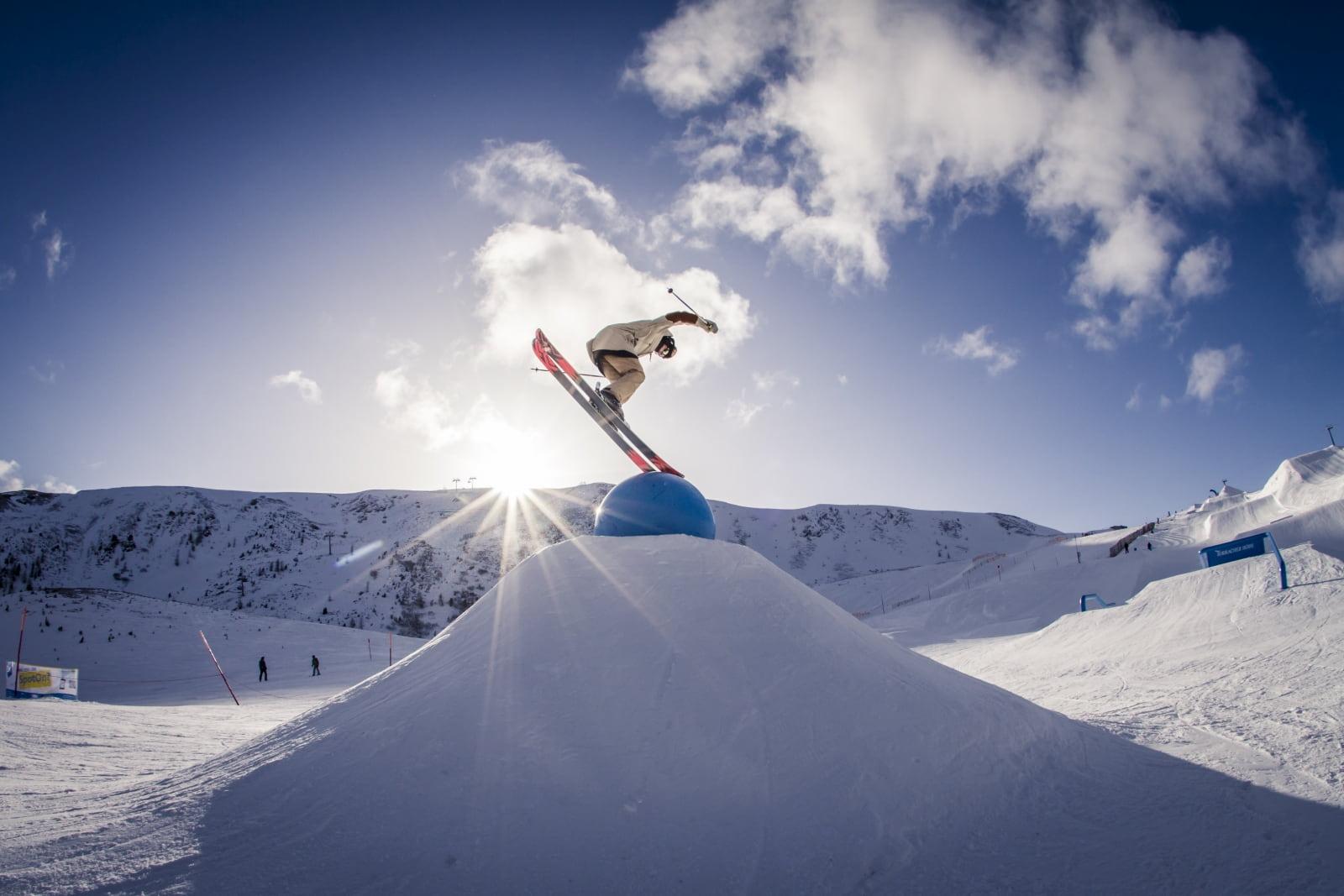 Heidi-Chalets-Turracher-Hoehe-Piste-Snowpark-Fun